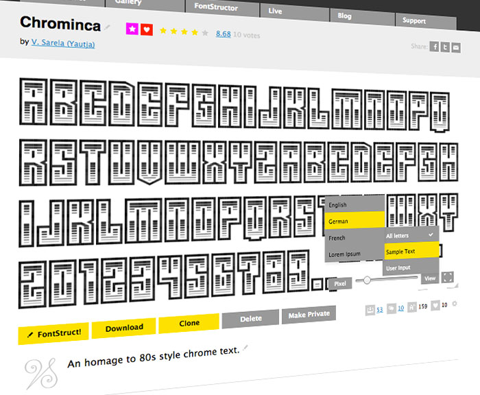 New FontStruction homepage